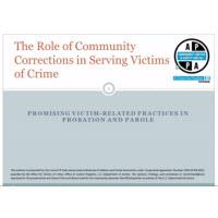 The Role of Community Corrections in Serving Victims
