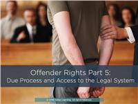 Offender Rights Part 5: Access to the Legal System