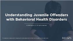 Understanding Juvenile Offenders with Behavioral Health Disorders