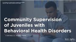 Community Supervision of Juveniles with Behavioral Health Disorders